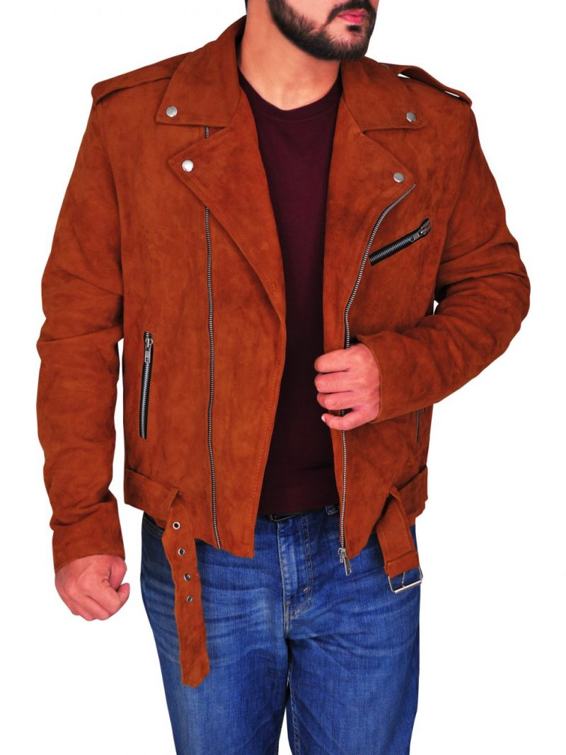 Nick Jonas Biker Style Leather Jacket,