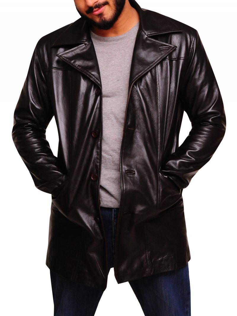 The Wire TV Dominic West Leather Coat,