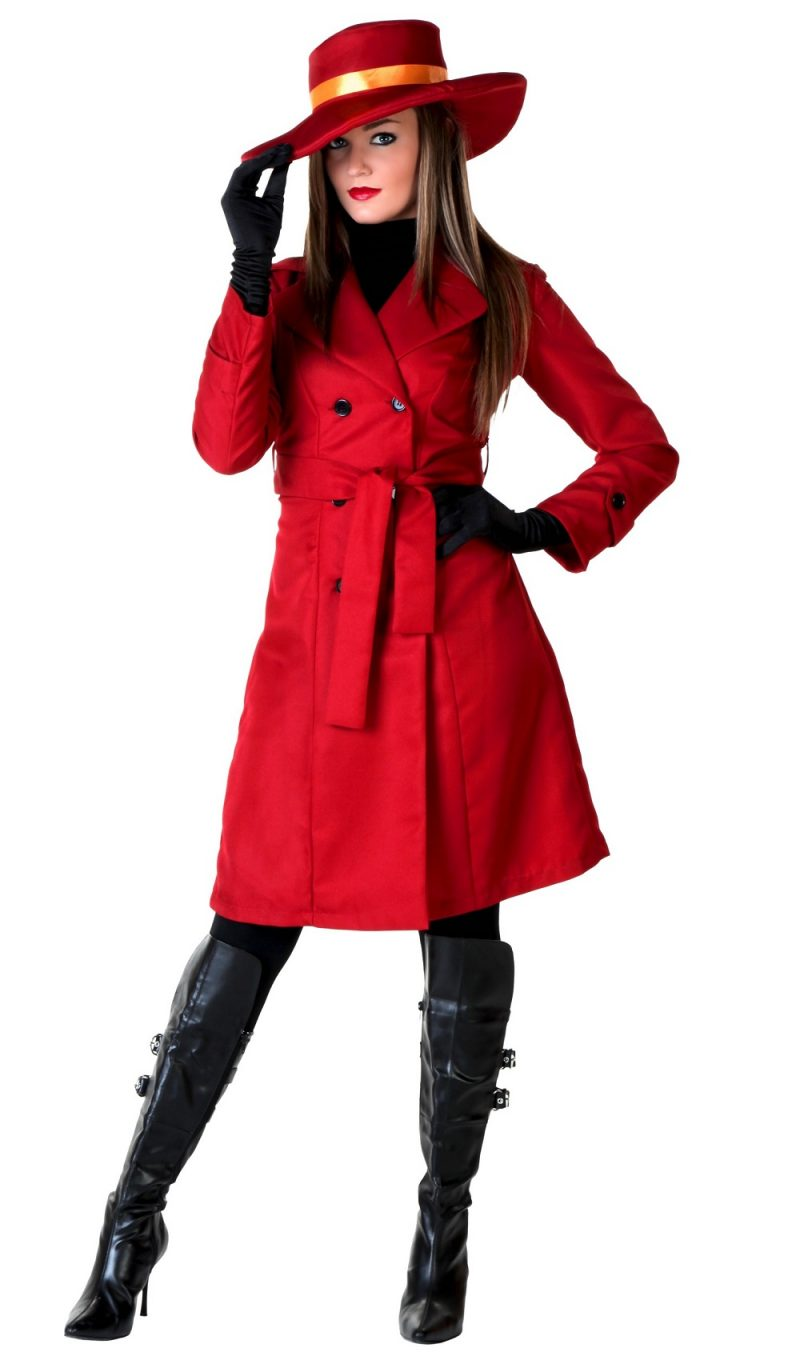 Womens Double Breasted Trench Halloween Coat