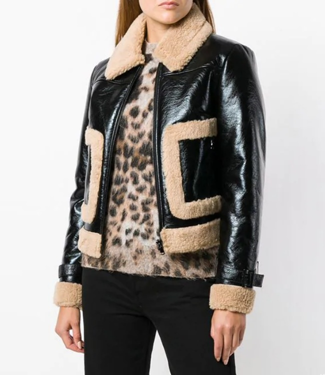 Bomber Flying Fully Fur lined Genuine Sheepskin Leather Jacket