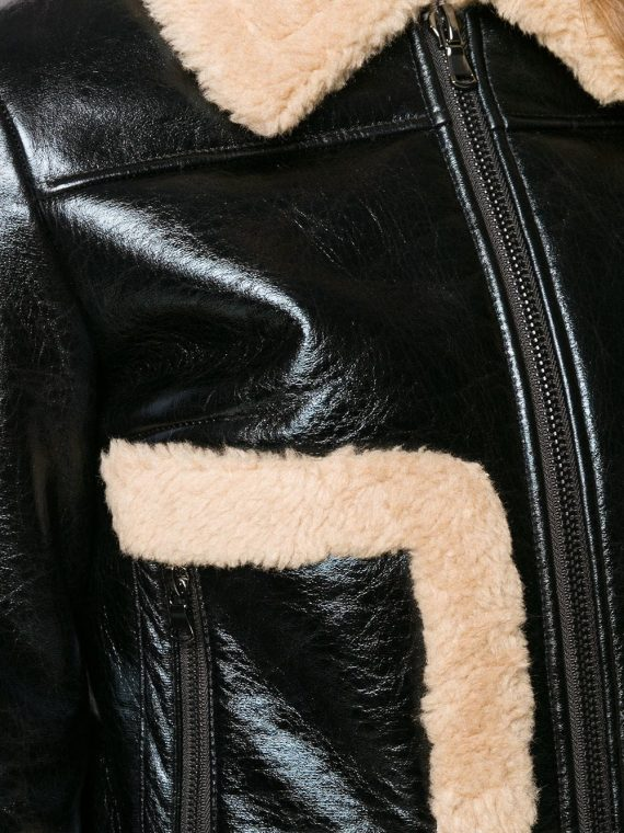 Bomber Flying Fully Fur lined Genuine Leather Jacket