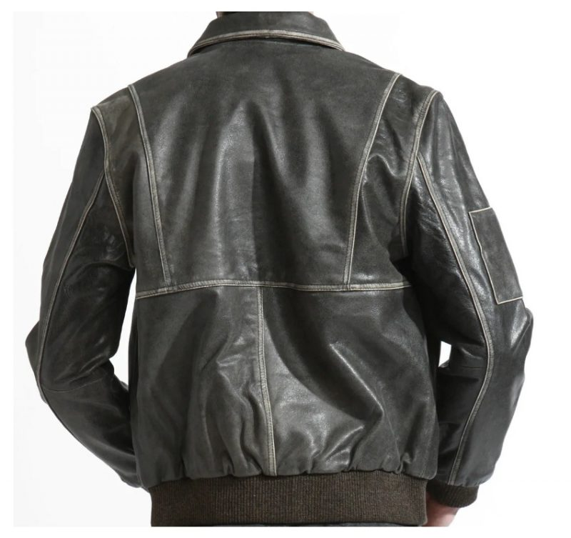 Bomber Style Leather Jacket