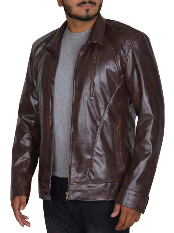 Tom Clancy's The Division Brown Leather Jacket