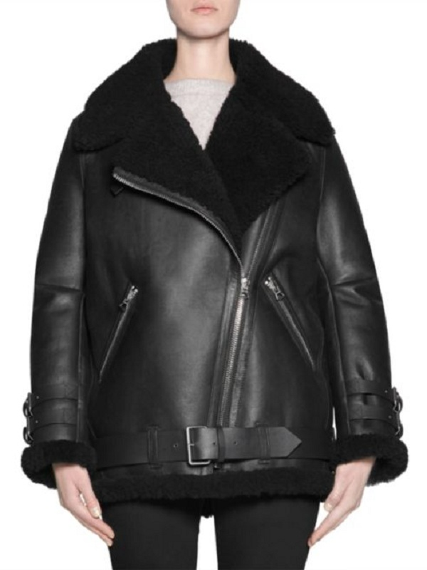 B3 Bomber Aviator Leather Jacket for Women's