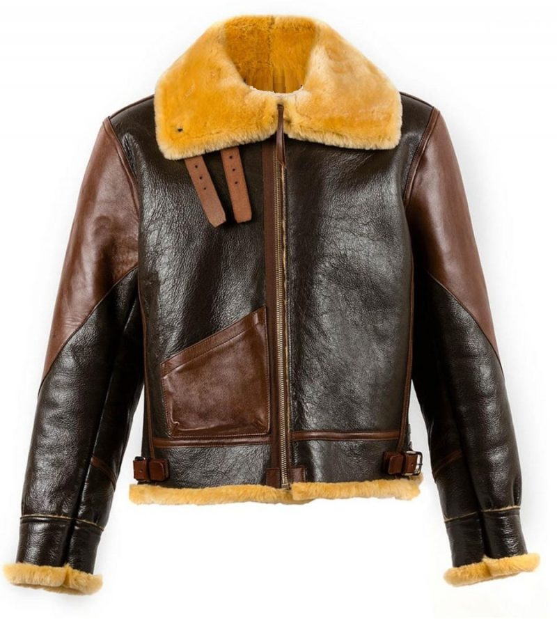 B3 Aviator Dark And Light Brown Shearling Jacket