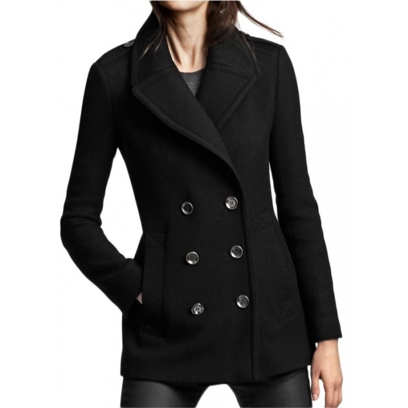 SlimFit Design Women Peacoat Wool Coat