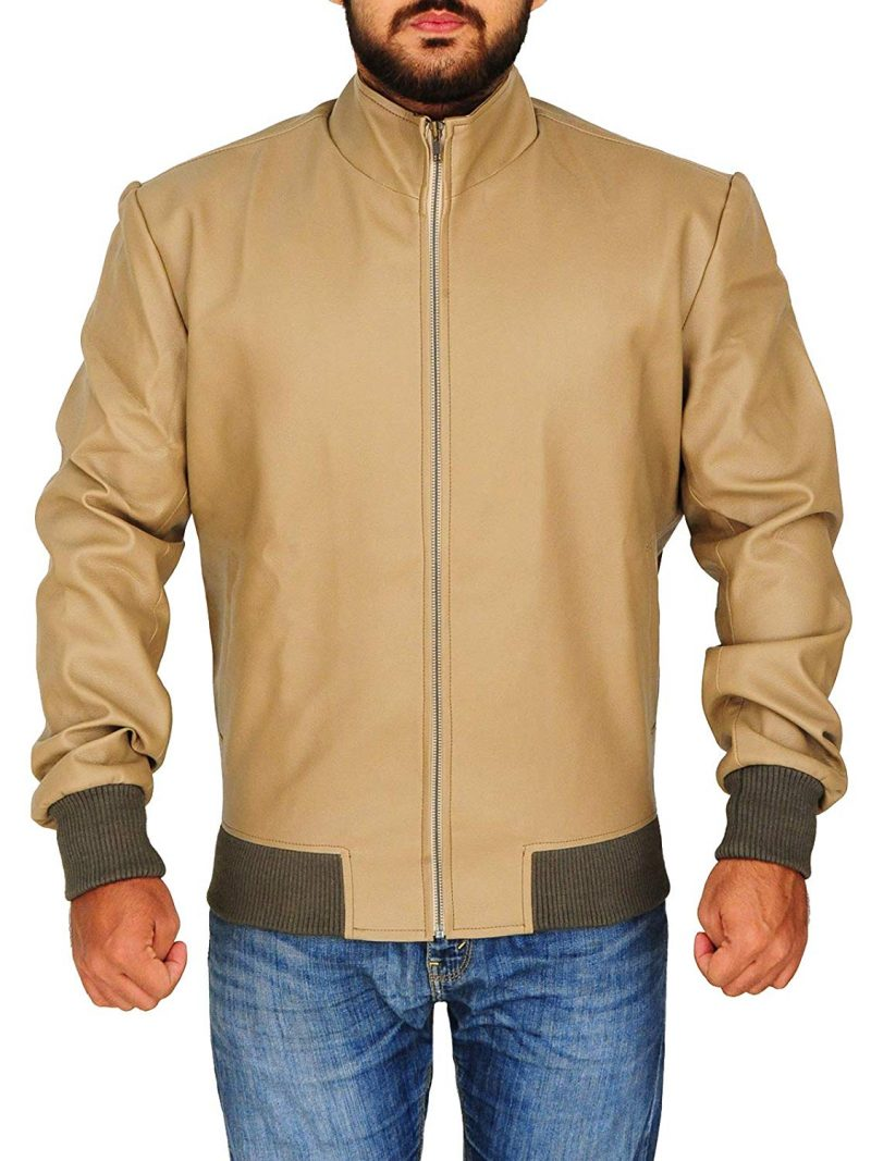 Men's Slim Fit Antique Beige Jacket