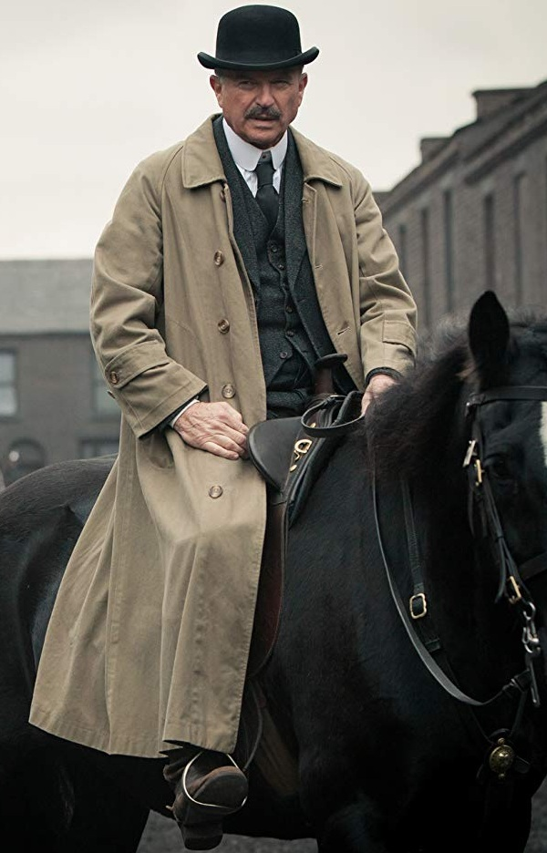 Peaky Blinders Inspector Chester Campbell Sam Neill Coat