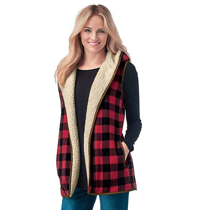Women's Kettle Hills Snow Red Flannel Vest