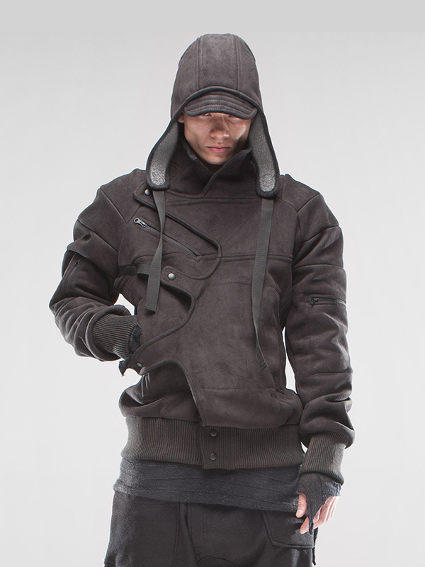 Assassin Asymmetric Removable Hood Jacket, Assassin Hood Jacket,
