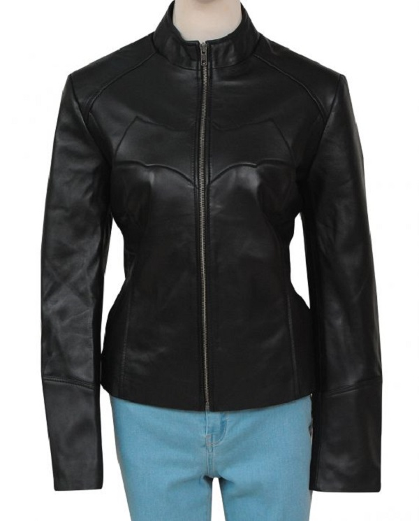 Batman Batgirl Black Leather Jacket