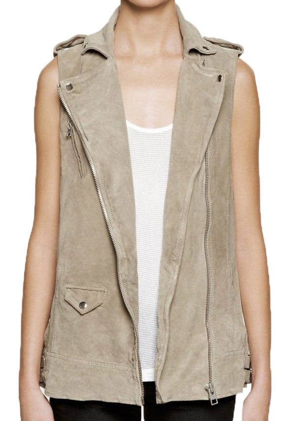 Doctor Who Rose Tyler Suede leather Vest