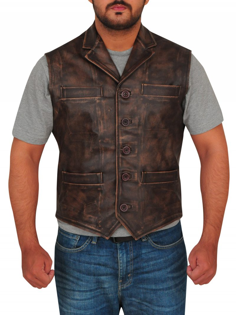 TV Series Hell on Wheels Anson Mount Leather Vest