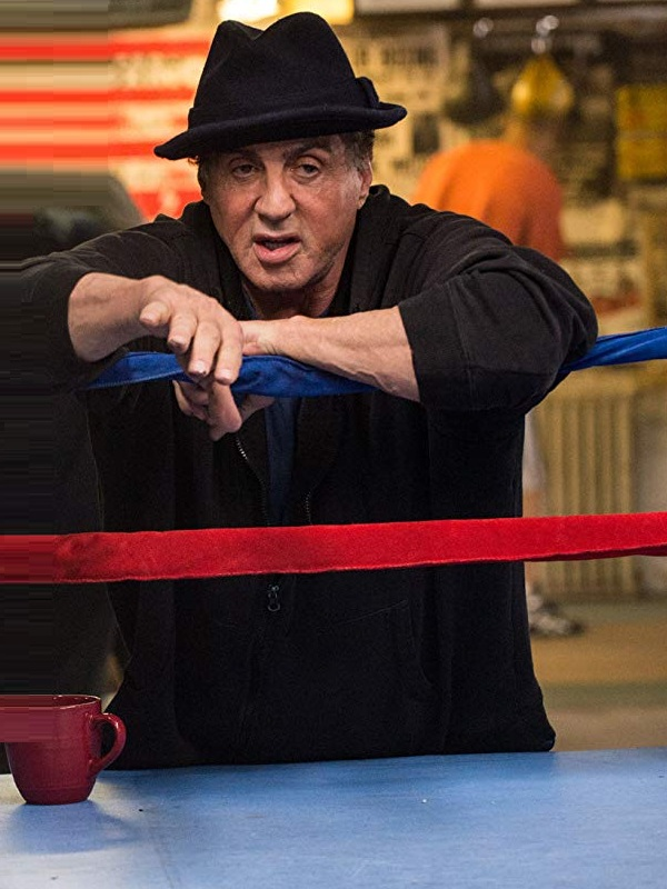 Movie Creed Sylvester Stallone Black Hooded Jacket