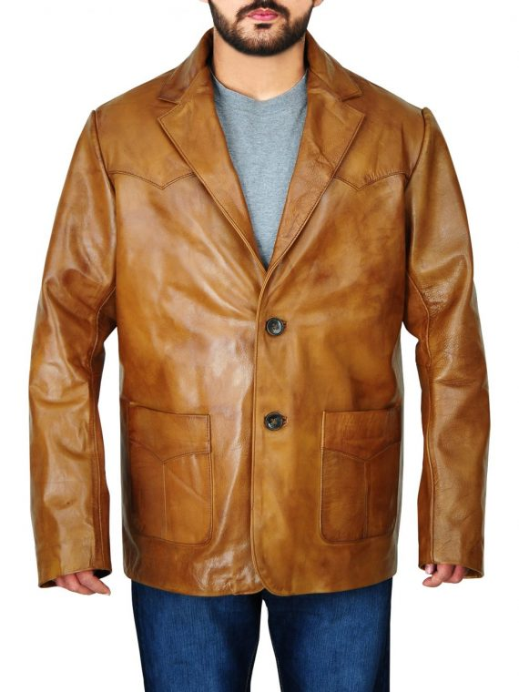 Leonardo DiCaprio Once Upon a Time in Hollywood Leather Coat,