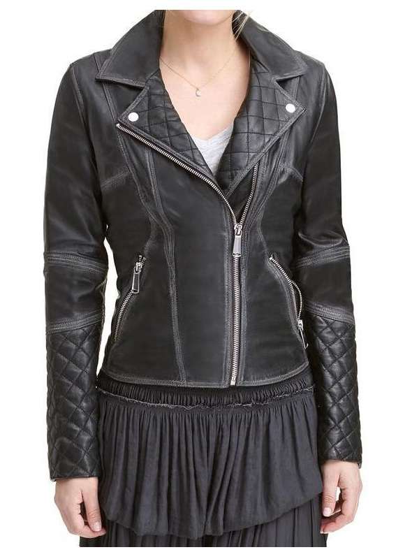 Lexi Black Quilted Leather Jacket