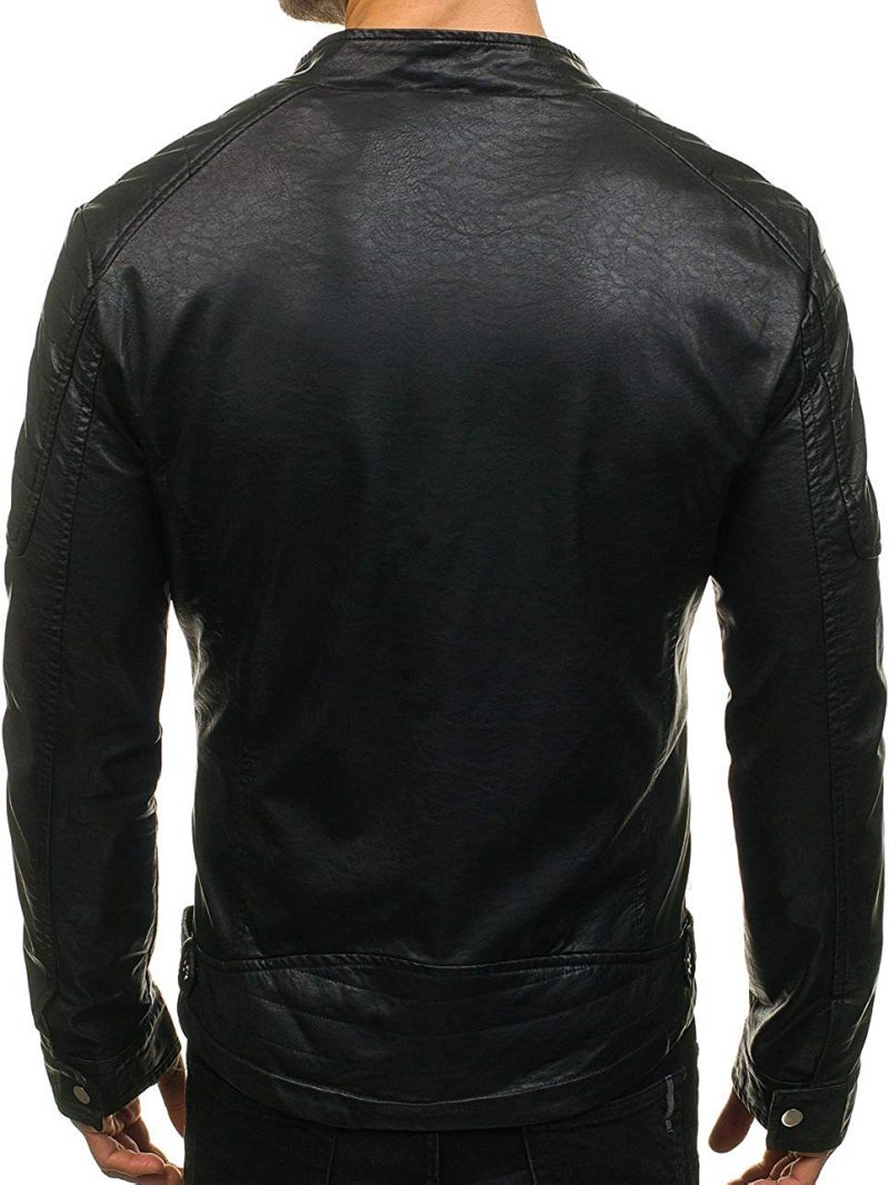 Men Casual Leather Jacket