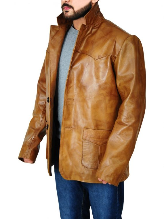Once Upon a Time in Hollywood Rick Dalton Brown Coat,