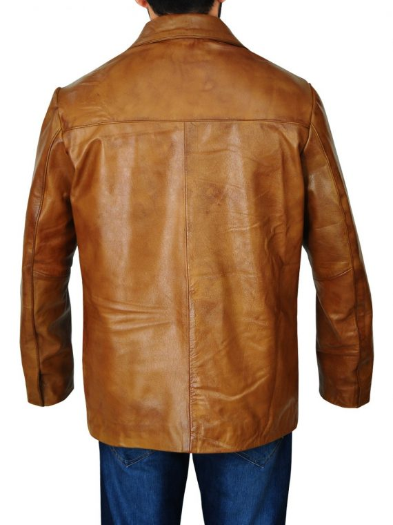 Once Upon a Time in Hollywood Rick Dalton Brown Leather Coat,