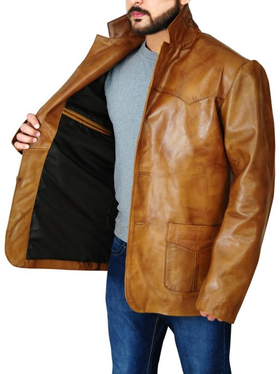 Once Upon a Time in Hollywood Rick Dalton Leather Coat,