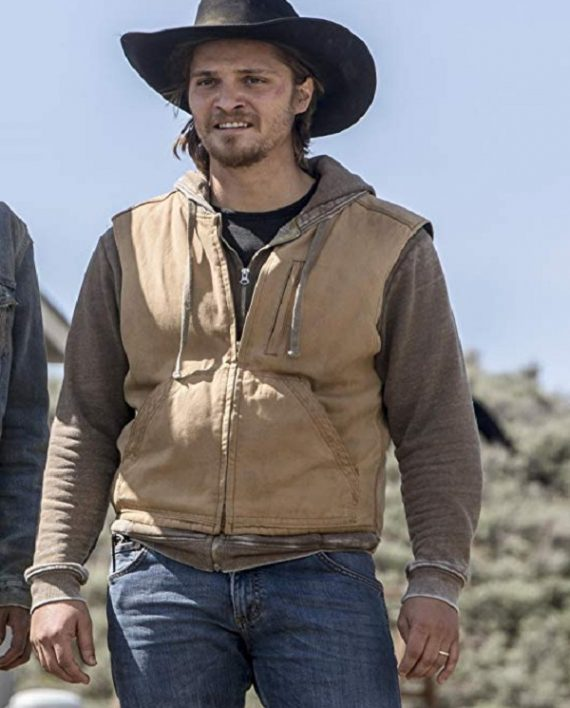TV Series Vest, Yellowstone Vest, Luke Grimes TV Series,