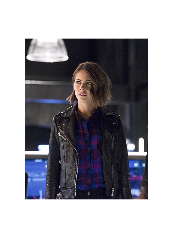 The Flash Willa Holland leather Jacket