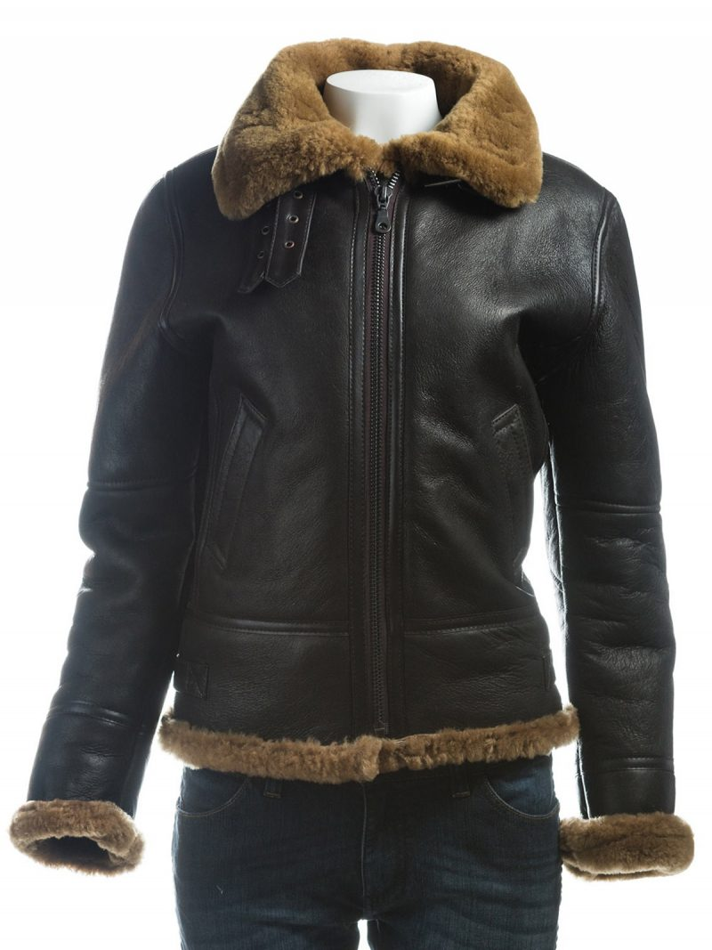 Women-B3-Bomber Jacket, B3-Bomber-Shearling-Leather-Jacket,