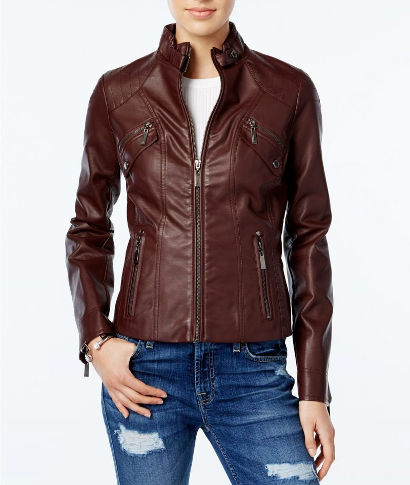 Women Traditional Slim Fit Leather Jacket