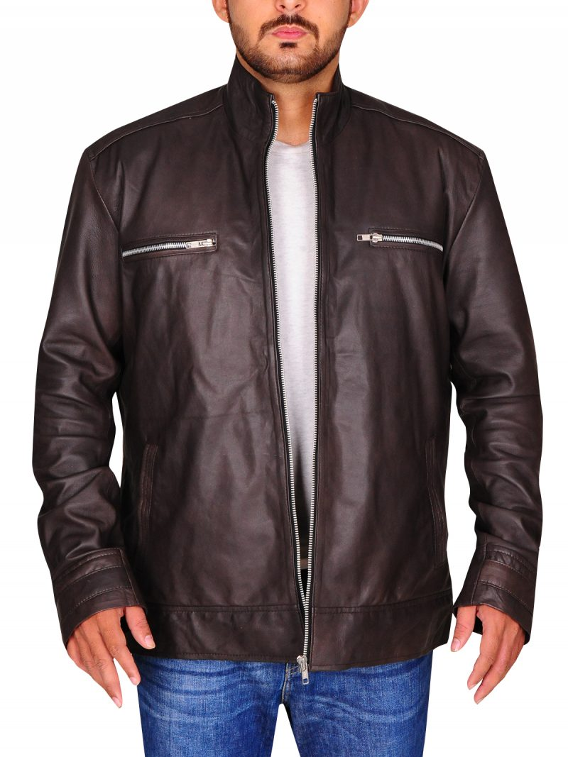 Agents Of Shield Grant Ward Brown Leather Jacket,