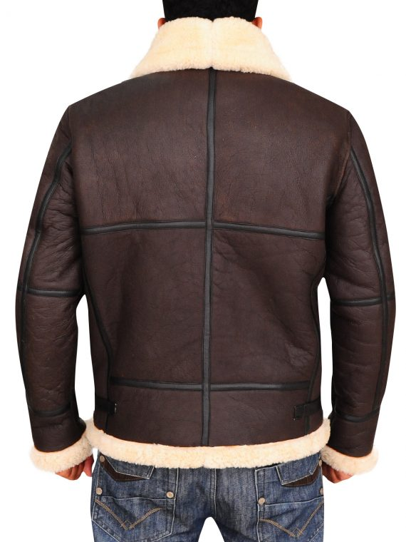B3 Bomber Aviator Sheepskin Jacket,