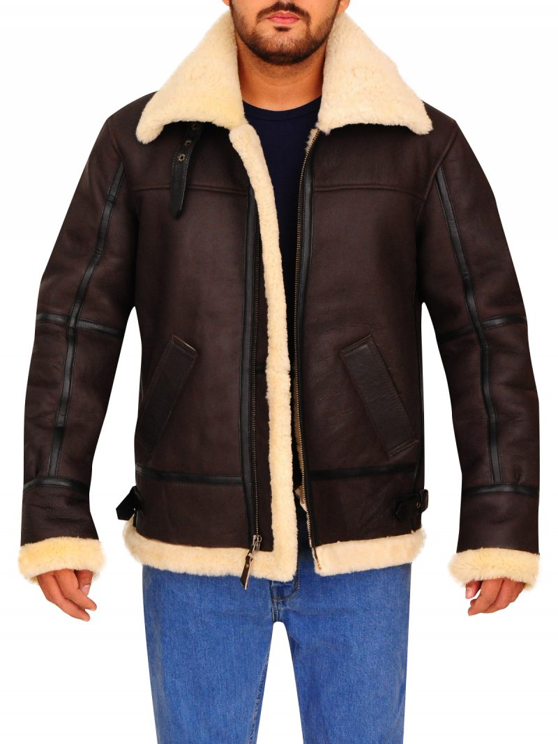 B3 Bomber Shearling Leather Jacket,