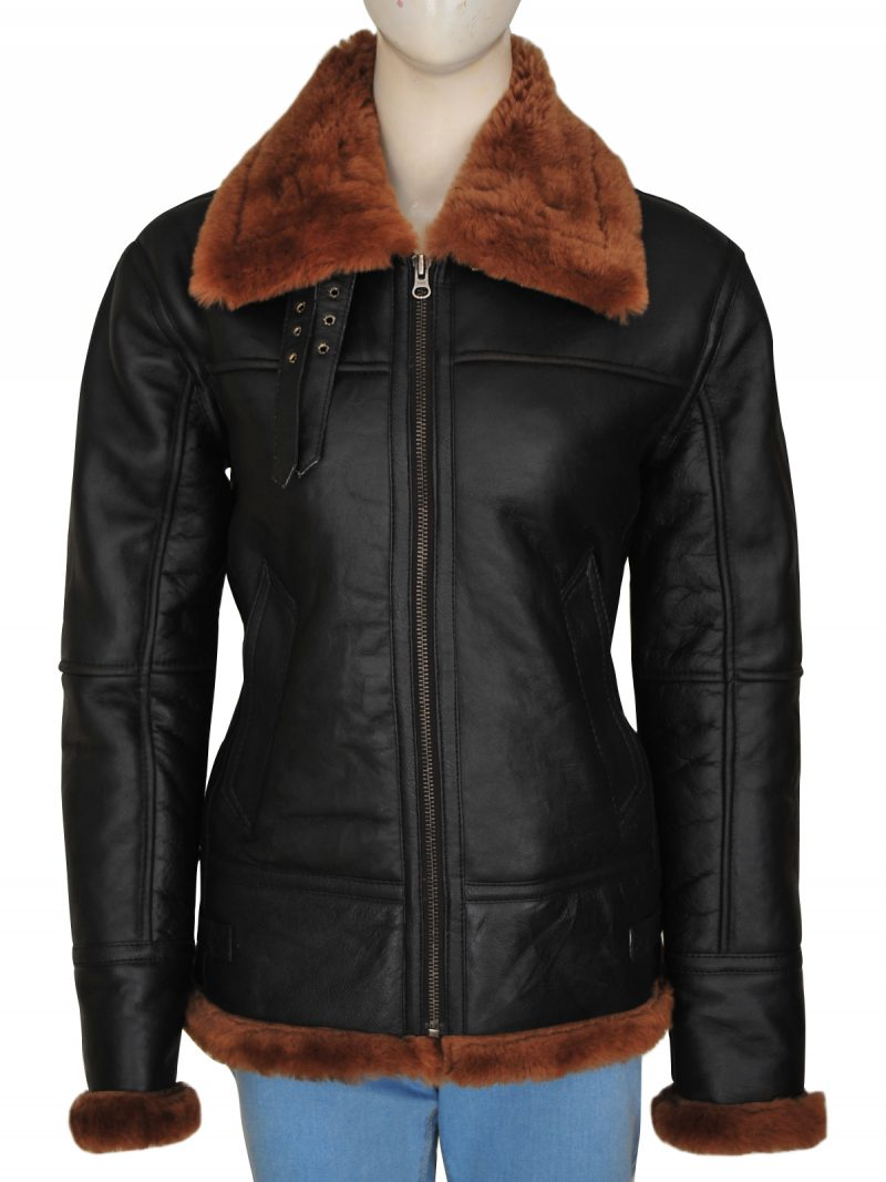 B3 Women Shearling Leather Jacket,