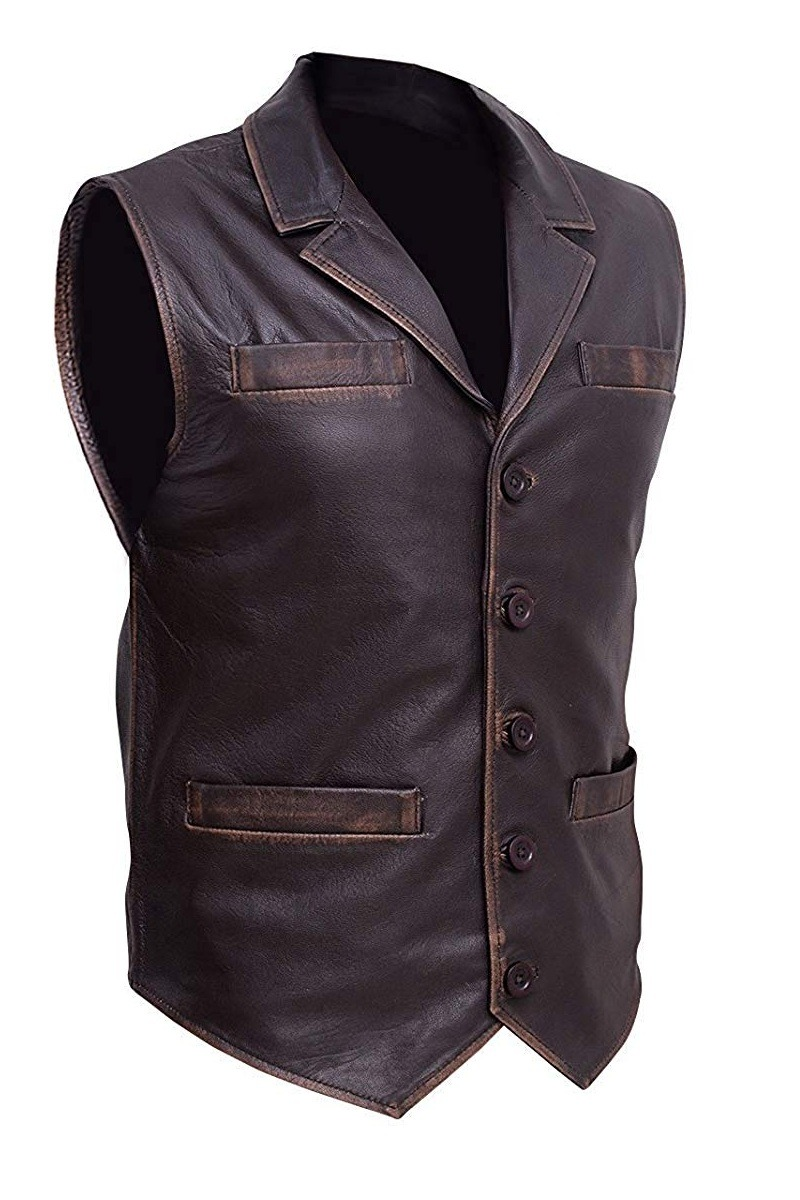 Hell on Wheels Anson Mount Cowhide Leather Vest