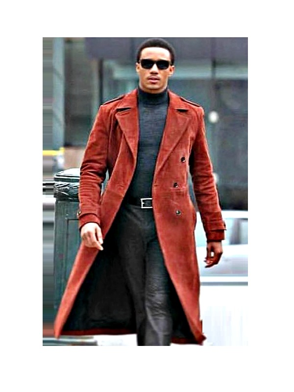 Jessie T. Usher Shaft John Shaft Jr. Coat