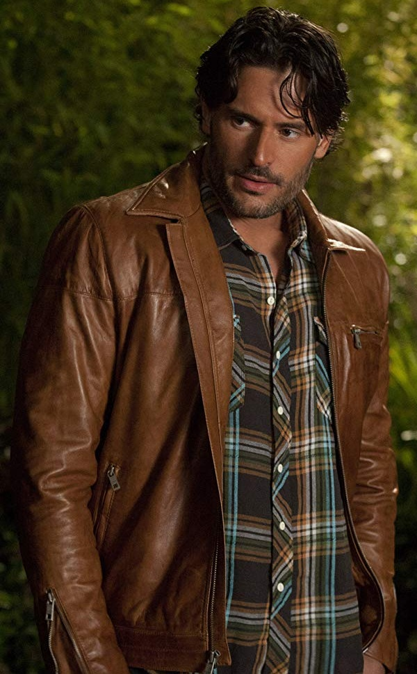 Joe Manganiello in True Blood Brown jacket
