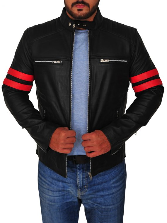 Mens Cafe Racer Motorcycle Jacket,