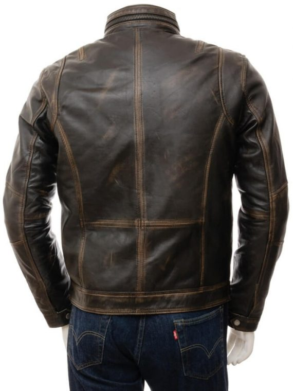 Moffit Distressed Leather Jacket