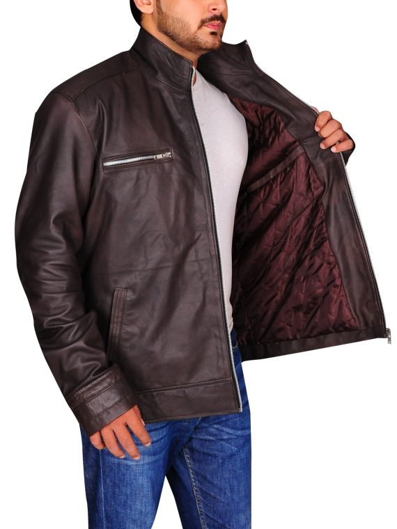 Grant Ward Brown Leather Jacket,