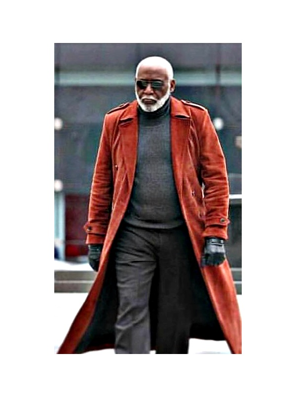 Movie Shaft John Shaft I Richard Roundtree Suede Leather Coat