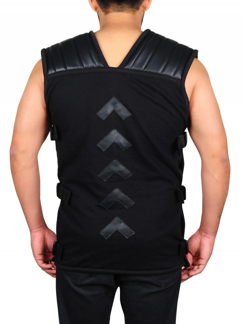 Wrestler Roman Reigns Black Vest,