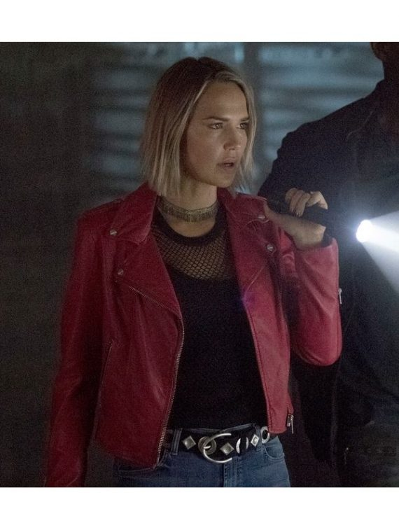 Midnight Texas Olivia Charity Red Leather Jacket