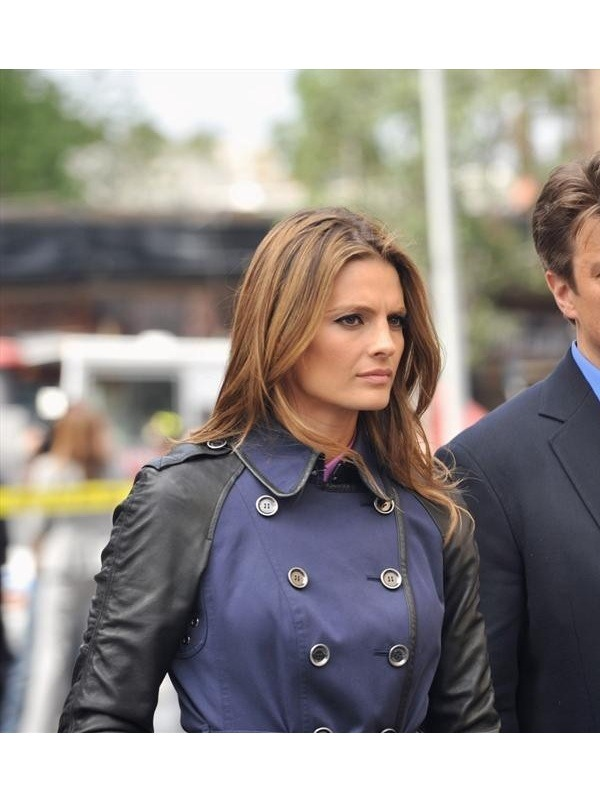 Castle Series Stana Katic Kate Beckett Elegant Coat