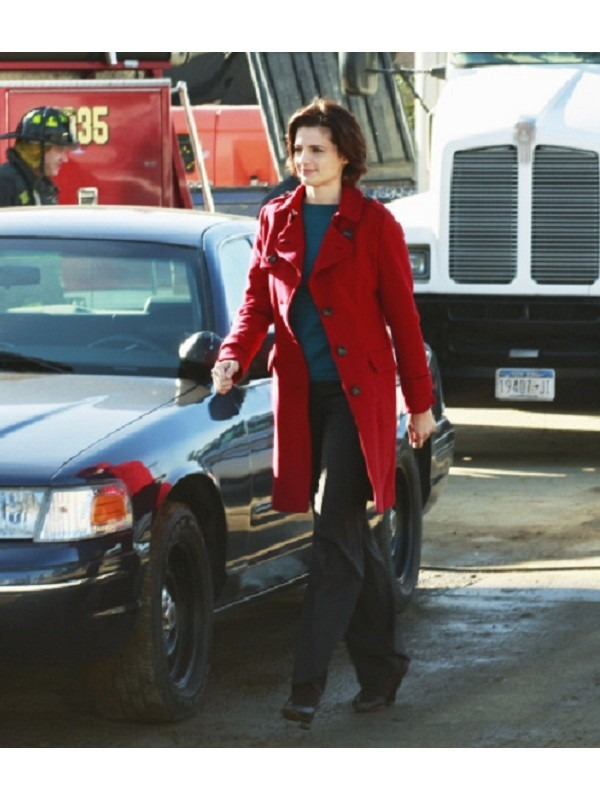 Castle  Stana Katic Kate Beckett Red Wool Coat