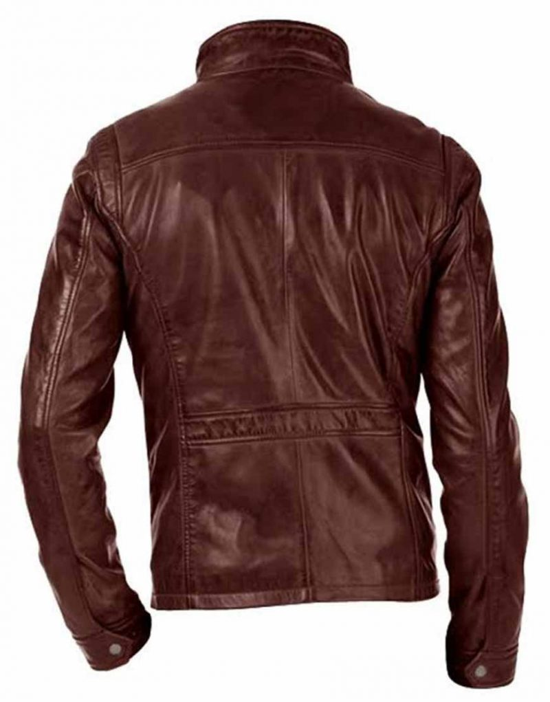 Arrow David Ramsey John Diggle Brown leather Jacket