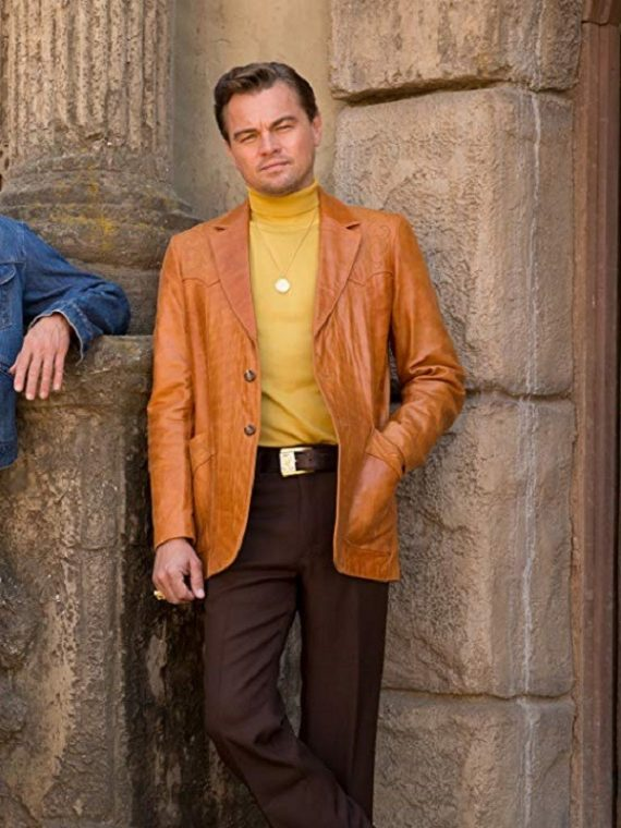 Once Upon a Time in Hollywood Rick Dalton Leather Coat