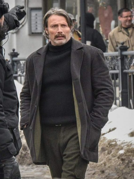 Mads Mikkelsen Polar Wool Coat,