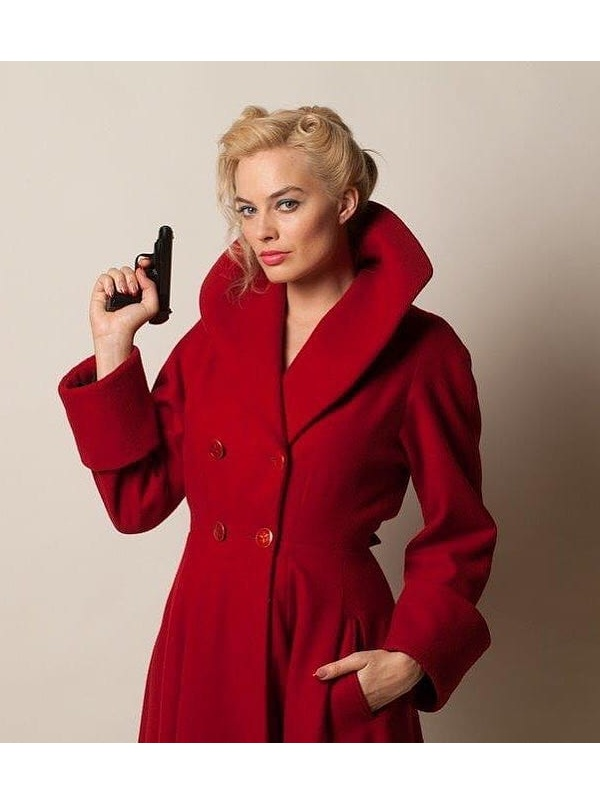 Margot Robbie Red Coat