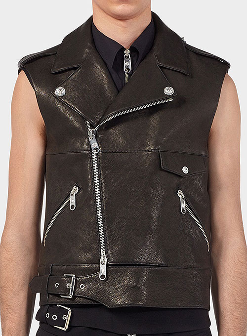 Men's fashionable Designer Leather Vest