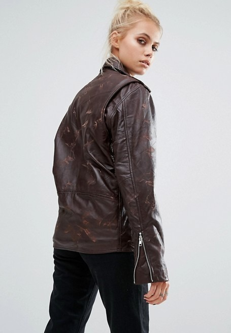 Springfield Women's Stylish Biker Leather Jacket