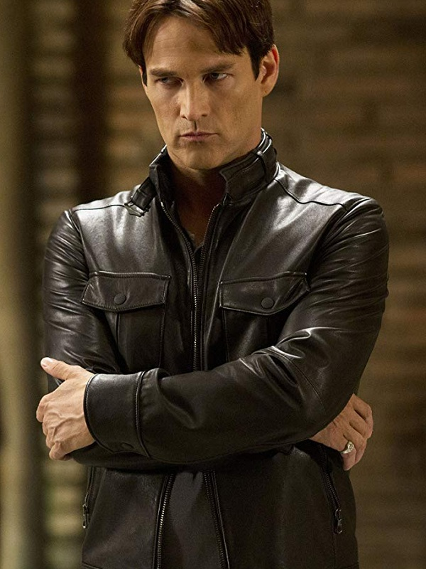 Stephen Moyer True Blood Bill Compton Brown Leather Jacket